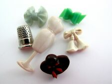 Vintage Lot of Sewing Buttons Dress Form Thimble Bows Realistic Novelty Goofie
