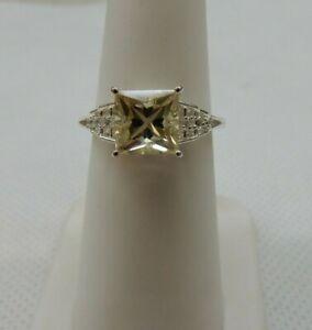 Size 6 Oregon Sunstone & White Zircon Sterling Silver Ring 1.61cts Serenite