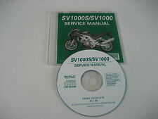 SUZUKI SV1000 SV1000S WVBX REPARATUR CD WERKSTATT HANDBUCH SERVICE MANUAL NEW