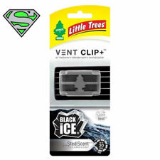 LITTLE TREE VENT CLIP BLACK ICE SCENT X3 AIR FRESHENER SCENT