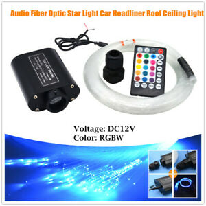 Audio Fiber Optic Star Light Car Headliner Roof Ceiling Light Source 300 Points