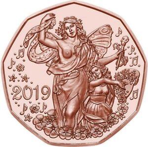 5 euro 2019 Cu Austria Autriche Österreich Neujahr Lebensfreude Nuovo Anno