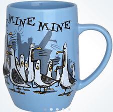 Mine Mine Mine Seagulls Mug Cup Finding Nemo Blue Disney World Theme Parks NEW