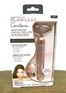 Finishing Touch Flawless Contour Vibrating Facial Roller and Massager - Rose Qua