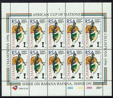 SOUTH AFRICA 1996 SOCCER AFRICAN CUP VICTORY SHEET VARIETY NO FOOTBALL MNH **
