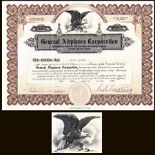 General Airplanes Corporation IL 1928 Stock Certificate