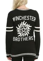 Supernatural Winchester Brothers Cardigan Sweater Size Small New With Tags!