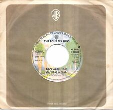 """THE FOUR SEASONS - DECEMBER 1963 (OH WHAT A NIGHT) - 7"""" 45 VINYL RECORD - 1975"""