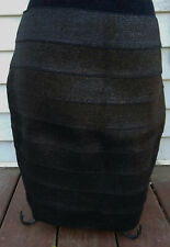 Express BodyCon/Club/Party/Sexy Skirt-Black/Glitter-Above Knee/Rubber-Medium