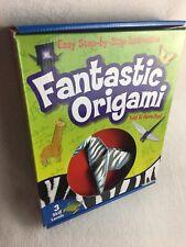 Fantastic Origami 3 Skill Levels Kit Make 20 Creations Kid Child Art Craft Paper