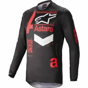 Black/Flo Red Sz L Alpinestars Fluid Chaser Motocross Jersey
