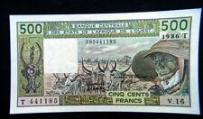 1986 WEST AFRICAN STATES T Togo Banknote 500 francs UNC GEM
