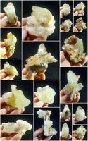 Natural DogTooth Calcite Combine with Fluorite Cluster Specimens Lot 18pcs 2.5kg