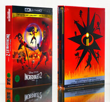 INCREDIBLES 2 [Blu-ray] 4K+2D+3D+Bonus BD (STEELBOOK), 4-DISC SET, FULL SLIP BOX