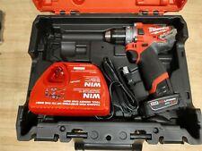 "OPEN BOX Milwaukee 2503-22 M12 FUEL 1/2"" Drill Driver Kit W/ 4Ah & Case"
