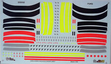 NASCAR DECAL 2000-2004 DODGE - FORD ACCESSORY GOODIE DETAIL SHEET 1/24 SLIXX