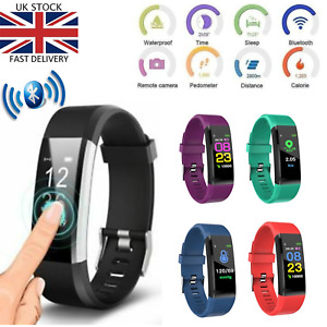 Sports Fitness Tracker Watch Heart Rate Blood Pleasure Activity Monitor Fitbit
