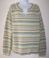 Old Navy Women's V-Neck Sweater XXL Wool Blend Multicolor Stripes