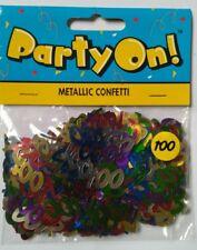 100th multicolour Metallic Party Decorations Table Decoration Confetti Sprinkles