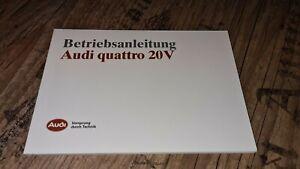Audi Original Betriebsanleitung Neu Urquattro 20V Quattro