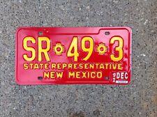 """NEW MEXICO - """"STATE REPRESENTATIVE"""" - LICENSE PLATE"""