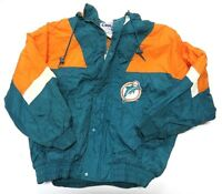 90s NFL Chalk Line Full Zip Up MIAMI DOLPHINS Turquoise Jacket Adult Size XL