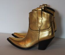 *BNIB* MAISON MARGIELA - Western Gold Leather Ankle Boots  39   *Sold Out*