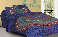 Elephant Mandala Duvet Cover Set King Size Double Single Bedding Reversible New
