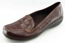 Clarks Size 7 W Brown Loafer Leather Women Shoes
