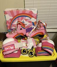 Moxi Rainbow Riders rollerskates +matching  gear