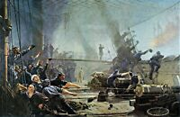 Battle of Heligoland by Danish  Christian Mølsted. Canvas War Art 11x17! Print