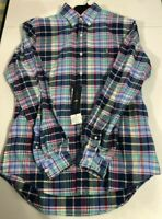 Polo Ralph Lauren Plaid Oxford Blue Yellow Long Sleeve Shirt Men's SZ M
