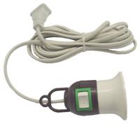 2pcs Home E27 Screw Light Lamp Bulb Holder Cap Socket Switch Power Cable Cords