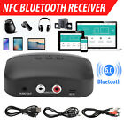 2in1 NFC Bluetooth 5.0 Receiver Wireless AUX 3.5mm to 2 RCA Audio Stereo Adapter