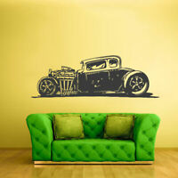 Wall Decal Vinyl Sticker Decal Hot Rod Auto Retro Muscle Car decor art Z2358
