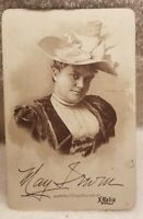 X-ZALIA CURE CABINET CARD MAY IRWIN 1890S FRANK L. WAY DRUGGIST MANCHESTER N. H.