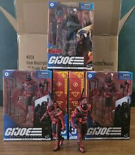 GI JOE CLASSIFIED 1 COBRA TROOPER TARGET EXCLUSIVE BLACK COLLAR & 4 Red Ninja's