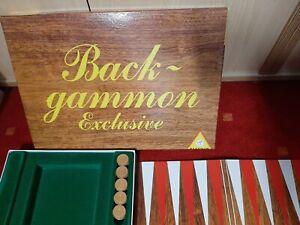 Innen wie neu: Backgammon Exclusive von Piatnik    gepflegt sauber Top Zustand