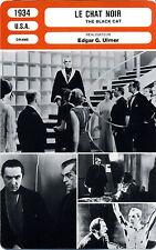 Fiche Cinéma. Movie Card. Le chat noir / The black cat (USA) Edgar G. Ulmer 1934