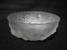 "VERLYS ""ROSES"" FROSTED SATIN BOWL"