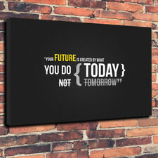 """The Future - Inspirational Quote Printed Box Canvas Picture A1.30""""x20"""" 30mm Deep"""