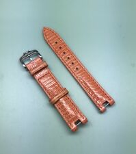 Baume and Mercier 14mm Orange Color Genuine Lizard Leather Strap With Buckle