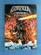 Dvd Godzilla 2000 Get Ready To Crumble Science Fiction Rated G Extra Features