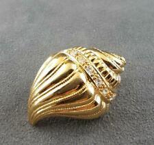 KJL Goldtone Shell Scarf Clip Vintage