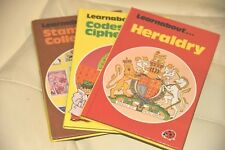 Ladybird 634 Learnabout lot Stamp collecting, Heraldry, Codes and Ciphers rf 826