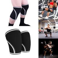 (7mm) Weightlifting Crossfit Powerlifting Quest Neoprene Knee Sleeve Strongman