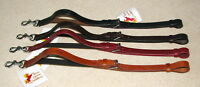 FSS Leather Elastic Elasticated Clip STANDING Martingale Attachment Breastplate
