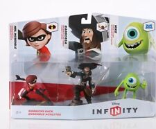 Disney Infinity 3-Pack Mike, Barbossa, Mrs. Incredible Set Toy Hard To Find