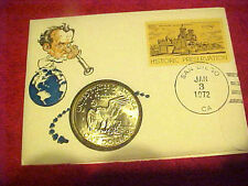1972D #257 99 COMPANY FIRST DAY FIRST ISSUED US LIBERTY EISENHOWER DOLLAR COIN