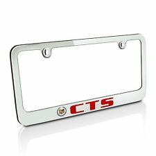 Cadillac Red CTS Chrome Metal Auto License Plate Frame